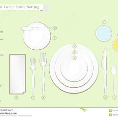 Banquet Table Set Up Diagram 2001 Holden Rodeo Stereo Wiring Detailed Illustration Of Lunch Setting Stock Vector