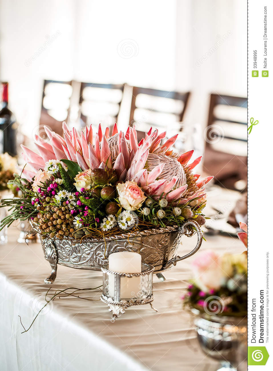 Detailed Silver Centerpiece Stock Image Image Of Soft