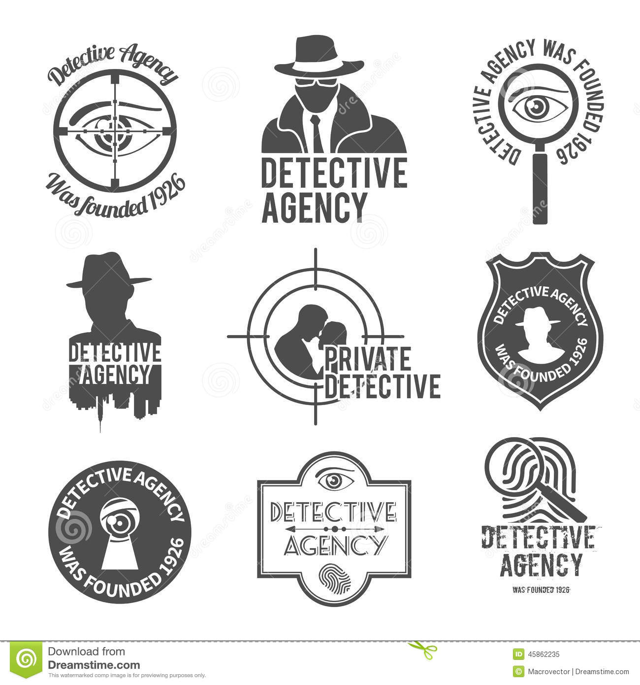 Private Detective Agency Royalty-Free Stock Image
