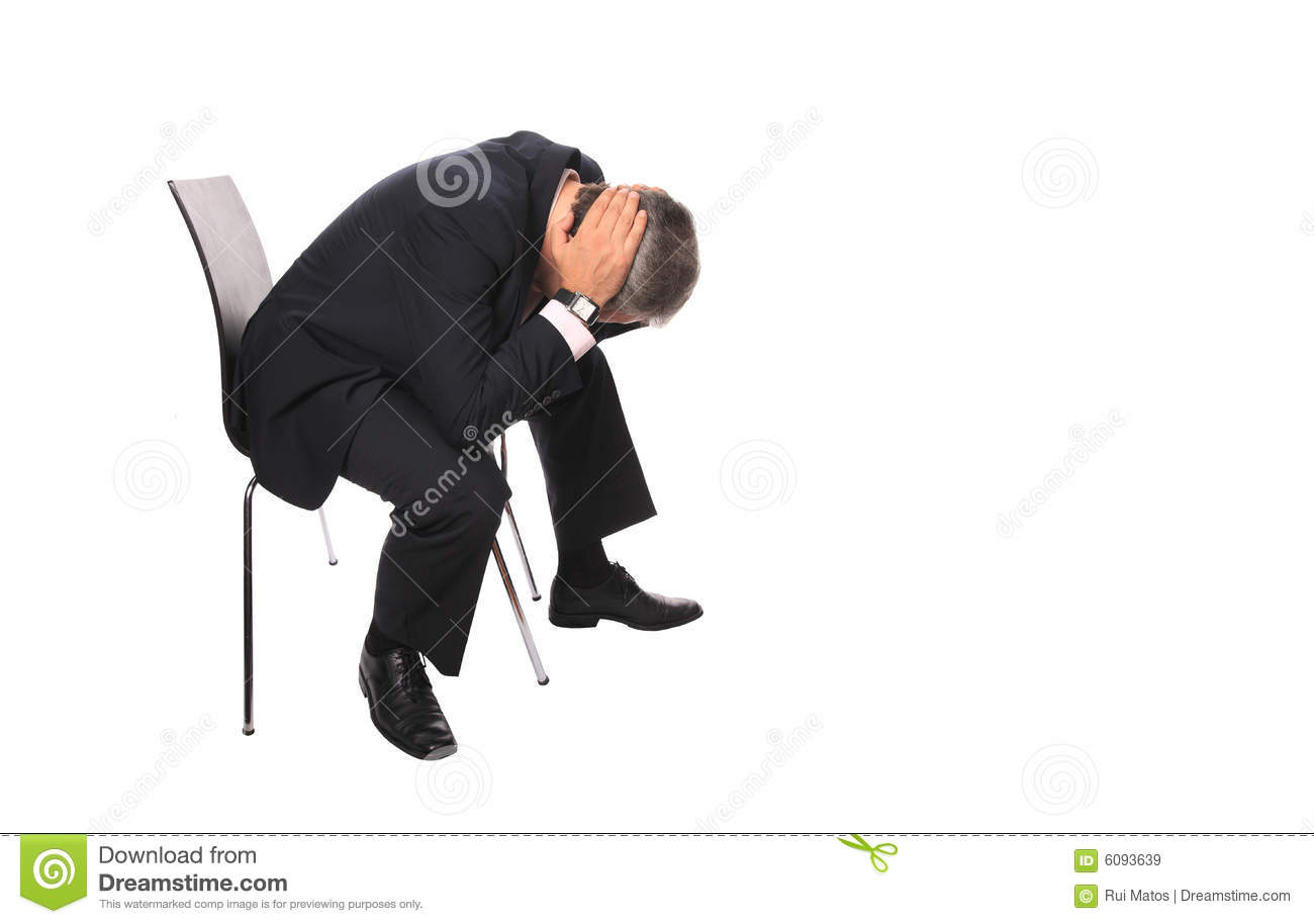 stress free chair swivel bomstad black devastated businessman royalty stock images - image: 6093639