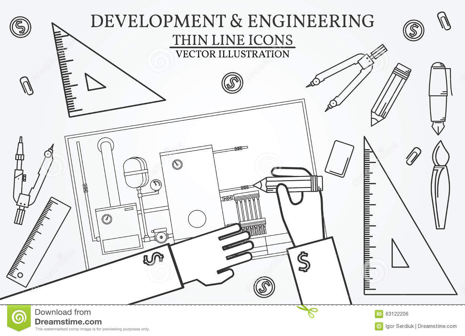 Development stock vector. Illustration of heat, condensing