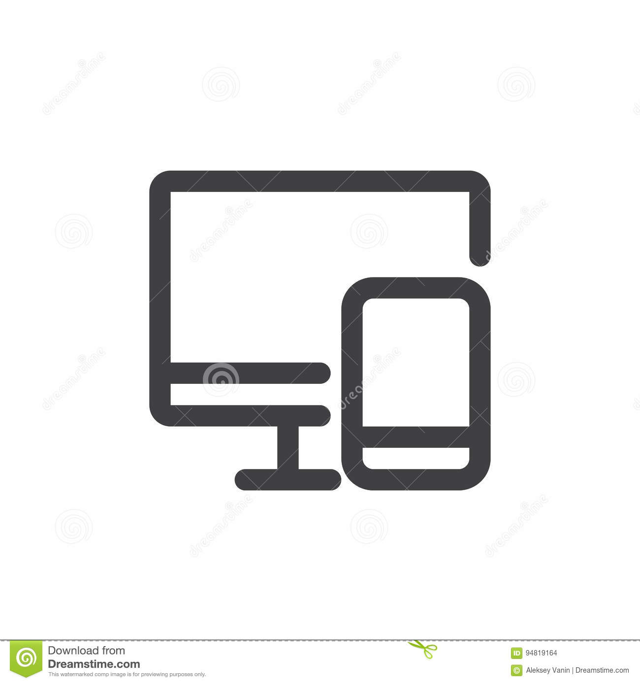 Devices Line Icon Outline Vector Sign Linear Style