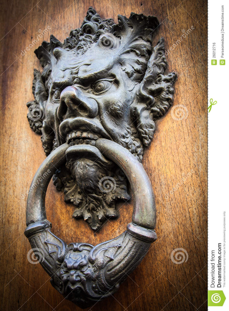 Devil Head Door Knocker Royalty Free Stock Image Image