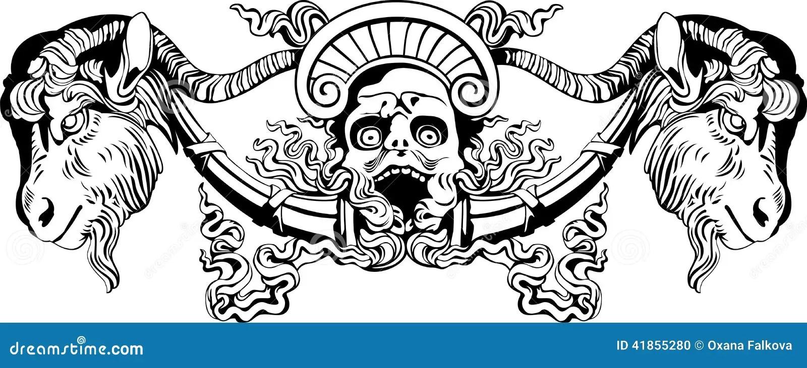 Devil stock vector. Illustration of horror, head, hunter