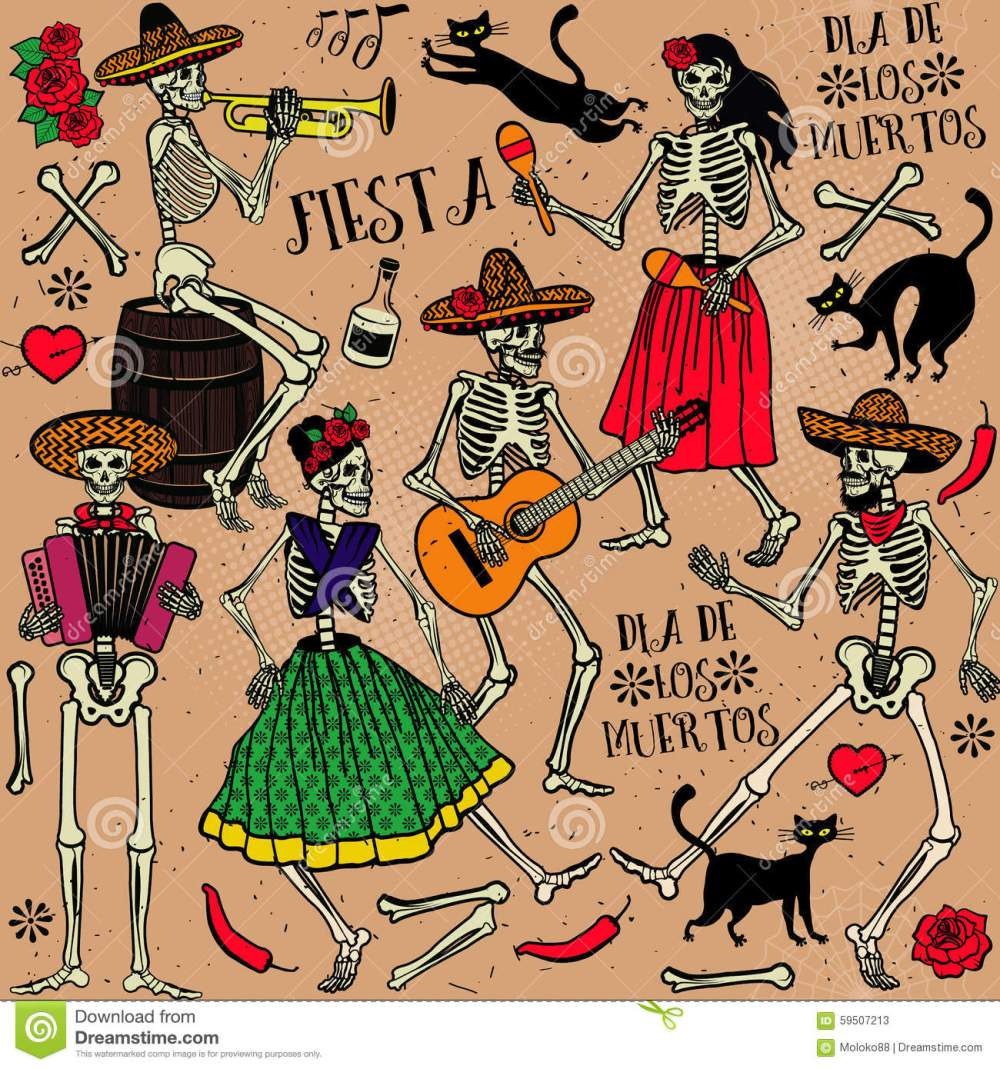 medium resolution of day of the dead the skeleton dance