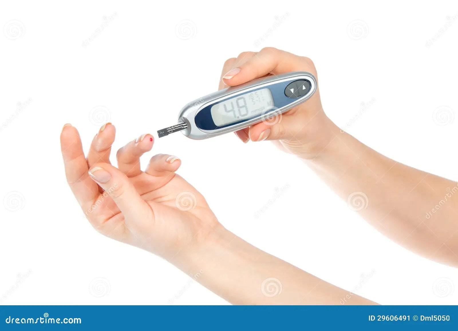 Diabetes Concept Measuring Glucose Level Blood Test Stock Image
