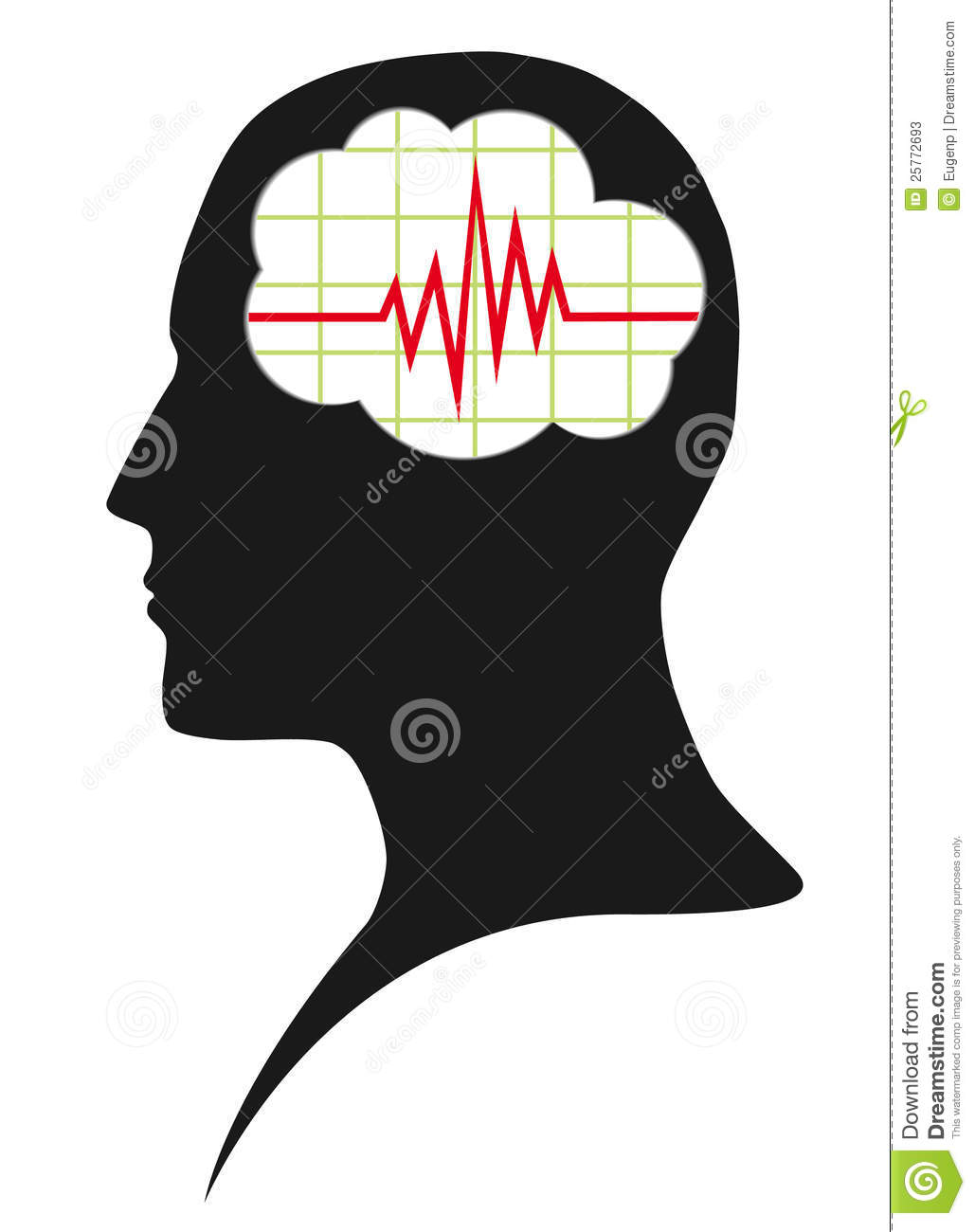 Diagram Of Brain Activity Stock Vector Illustration Of Doctor