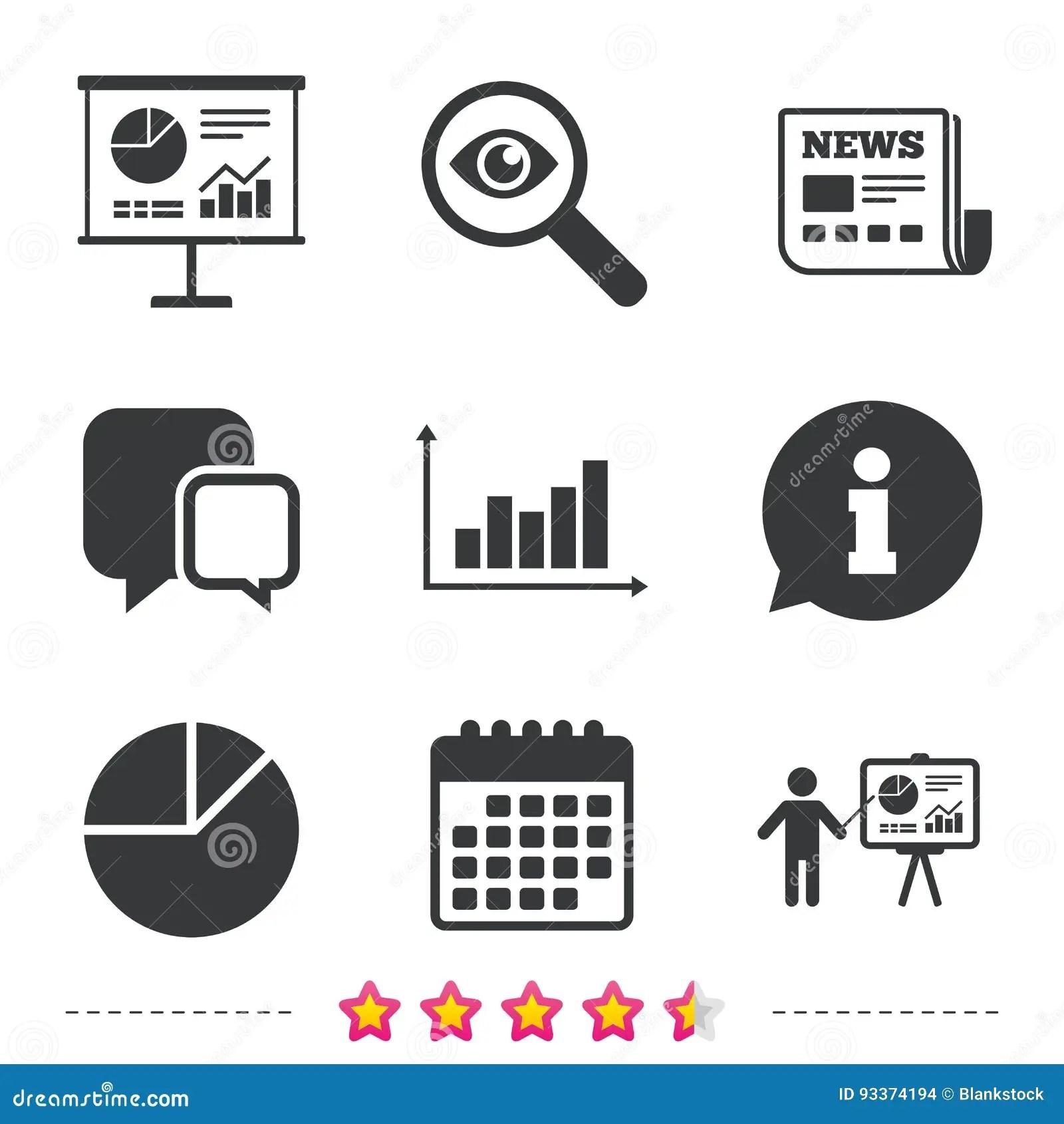 Diagram Graph Pie Chart Presentation Billboard Stock