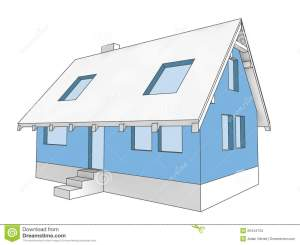 Diagram Icon Building Facade Of House Stock Images  Image