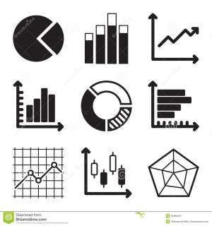 Diagram Icons Set stock vector Illustration of charts