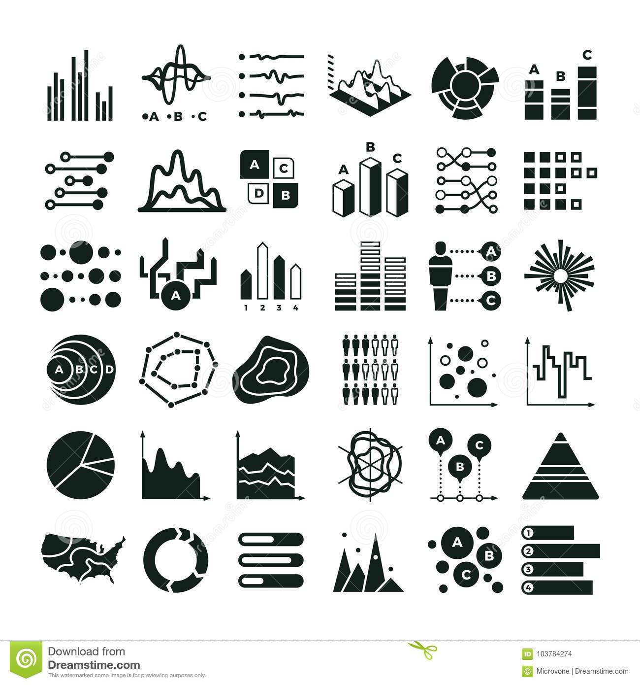Diagram And Infographic Vector Icons Business Data Chart