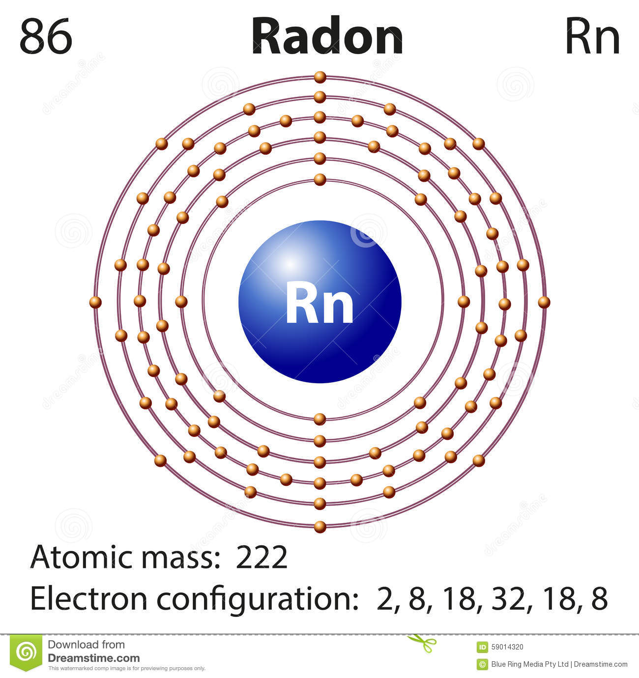 copper atom diagram wiring circuit breaker representation of the element radon royalty-free illustration | cartoondealer.com #59014320