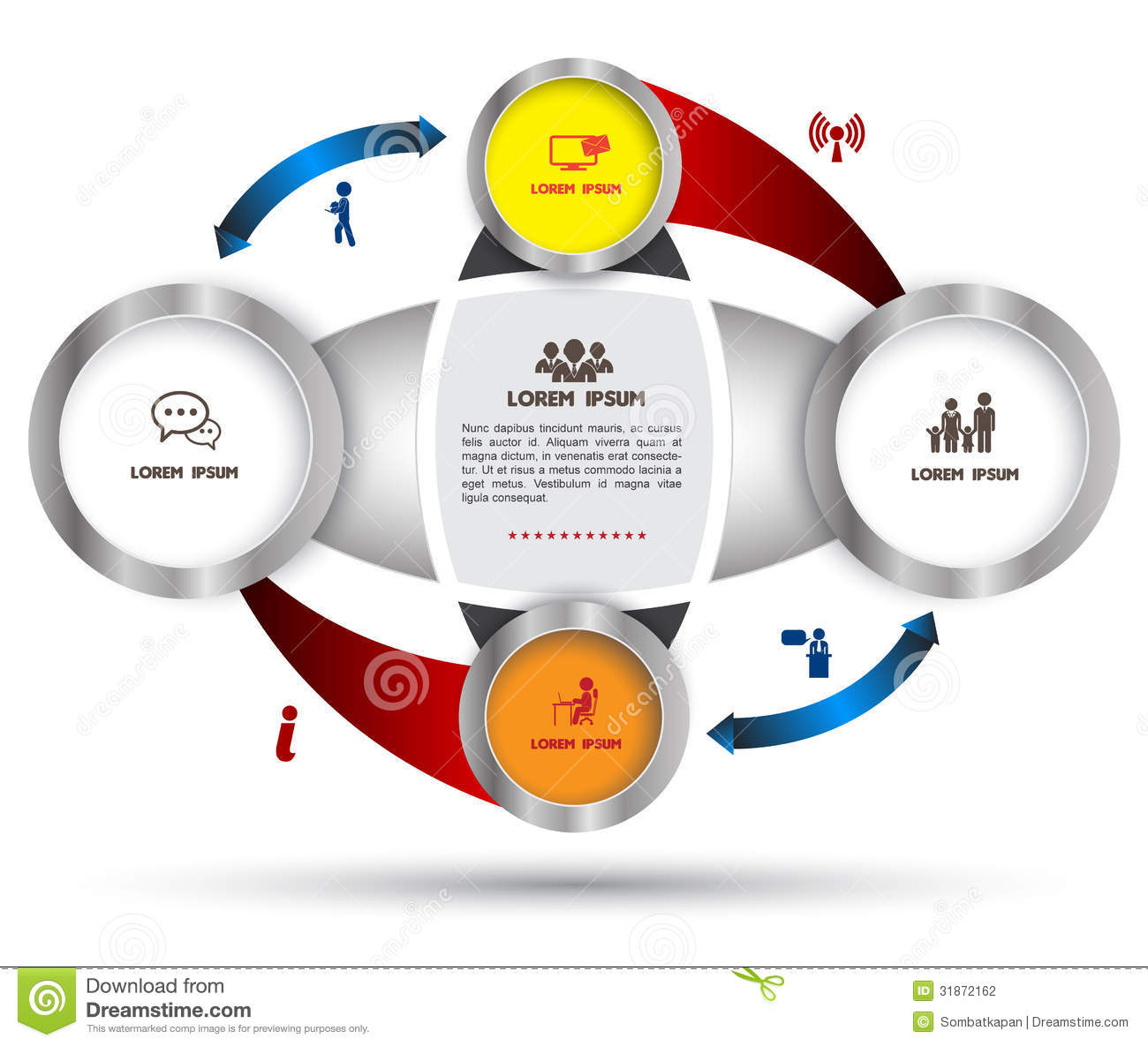 hight resolution of diagram template for business plan or system