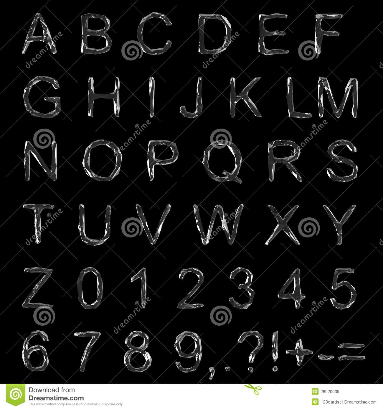 Diamond Font Clipping Path Royalty Free Stock Images