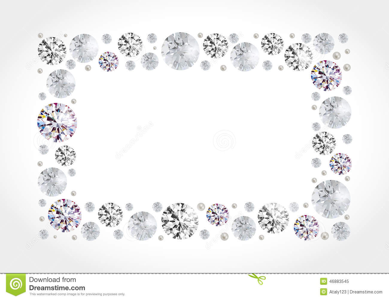 Border Clip And White Borders Diamond Frames Art Background Black Black