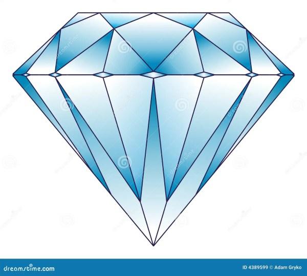 diamond illustration stock vector
