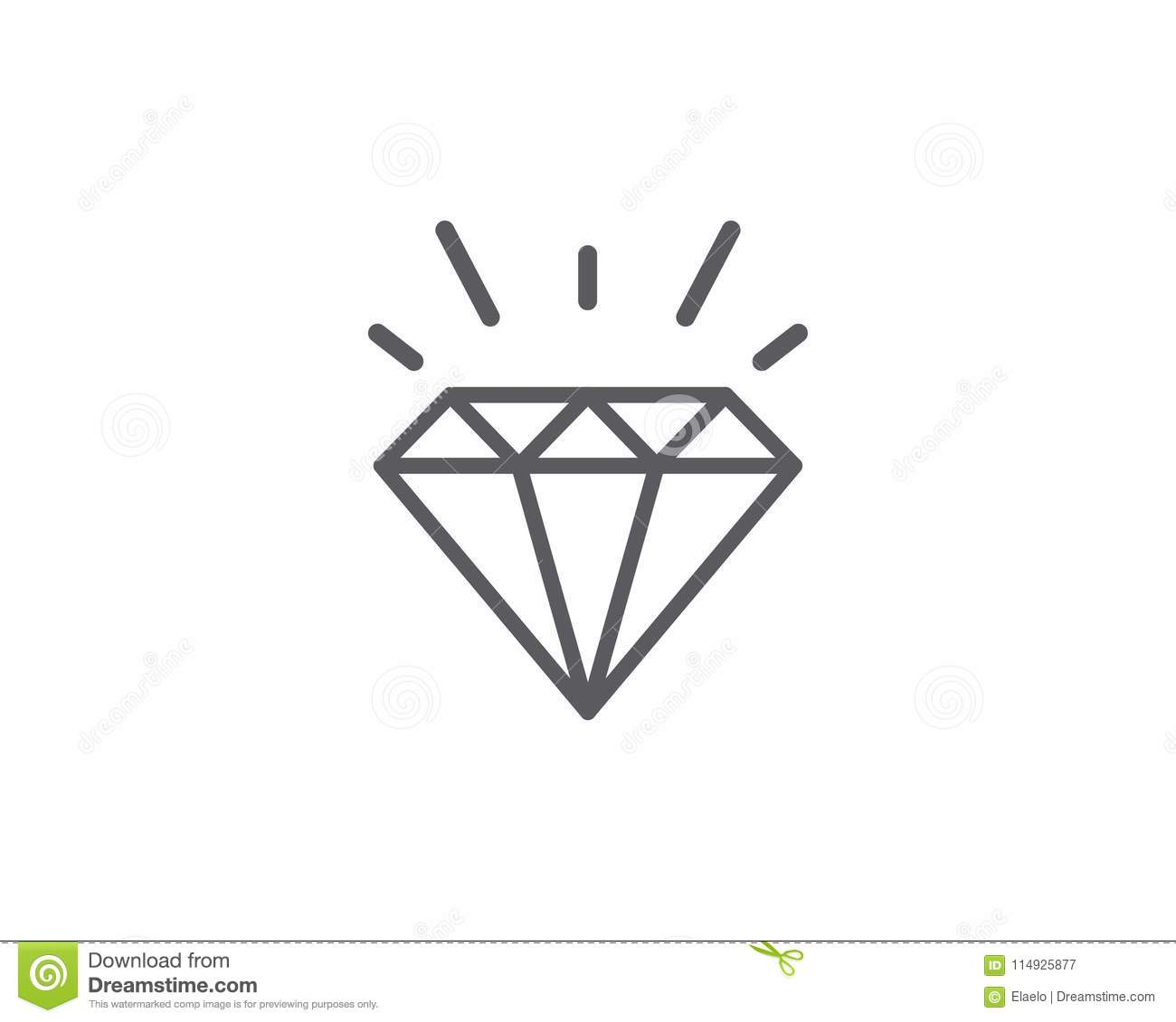 Diamond Logo Template Vector Icon Stock Vector