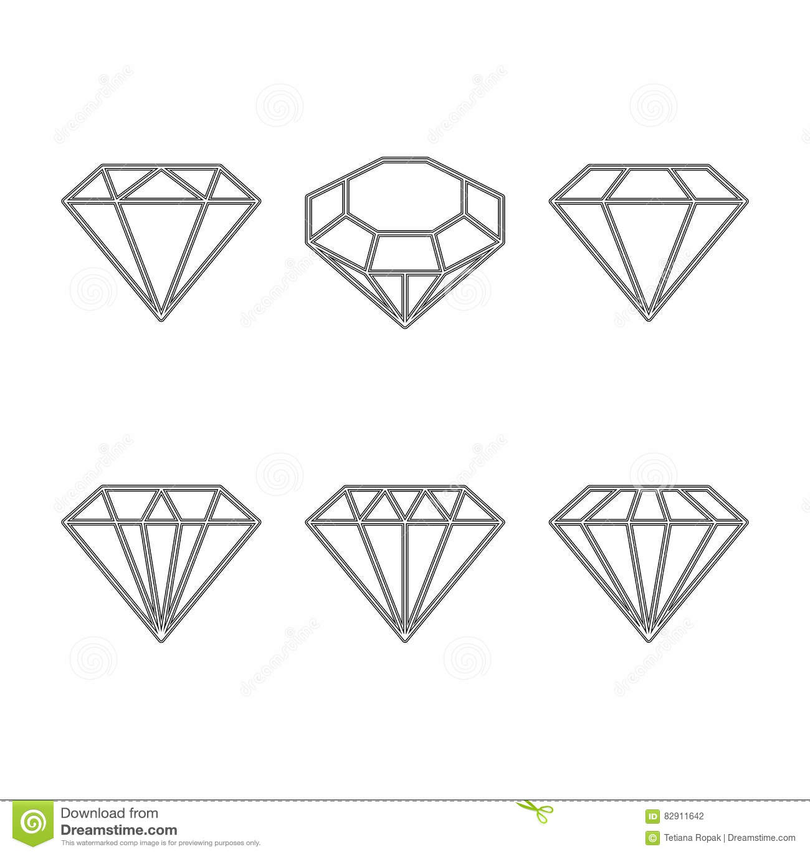 Diamond Gem Stone Carat Stock Illustration