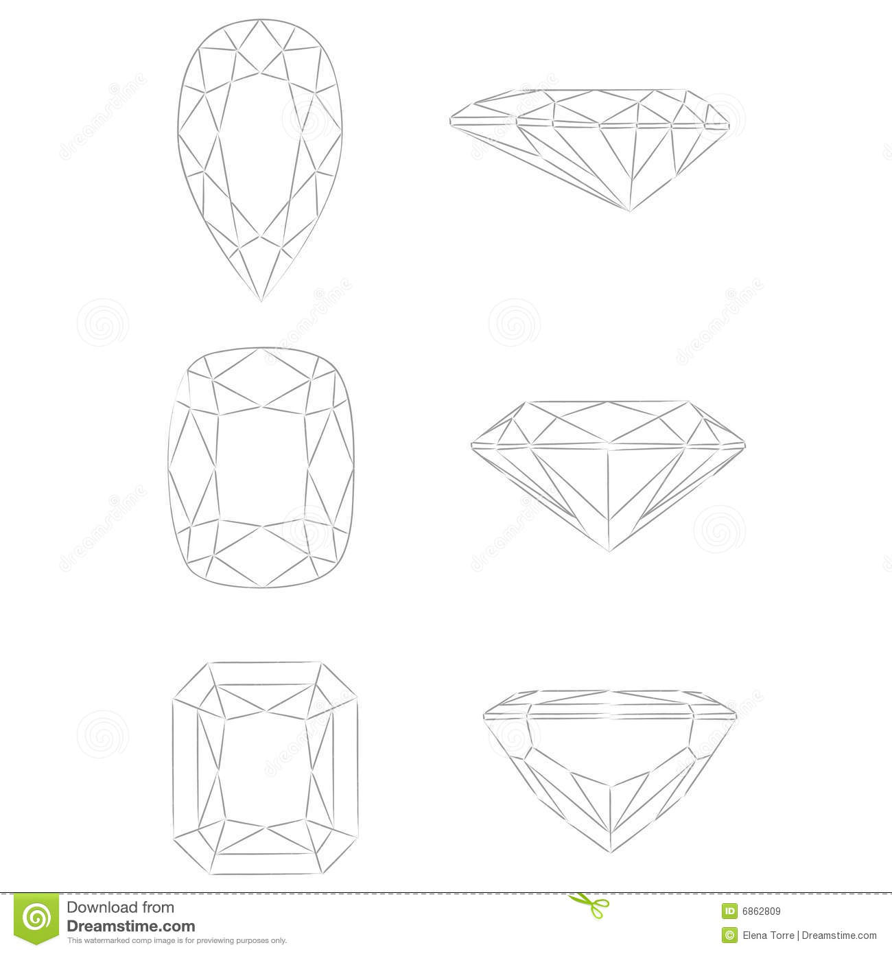 Diamond Shapes Vector Pear