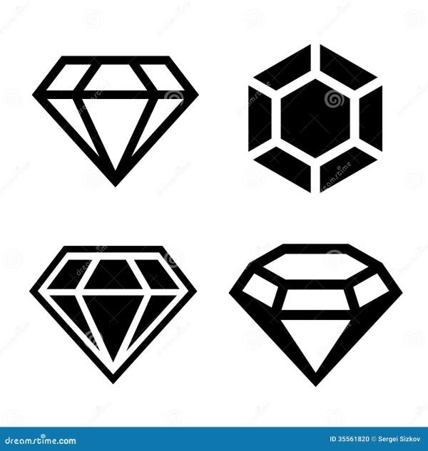diamond vector icons set stock