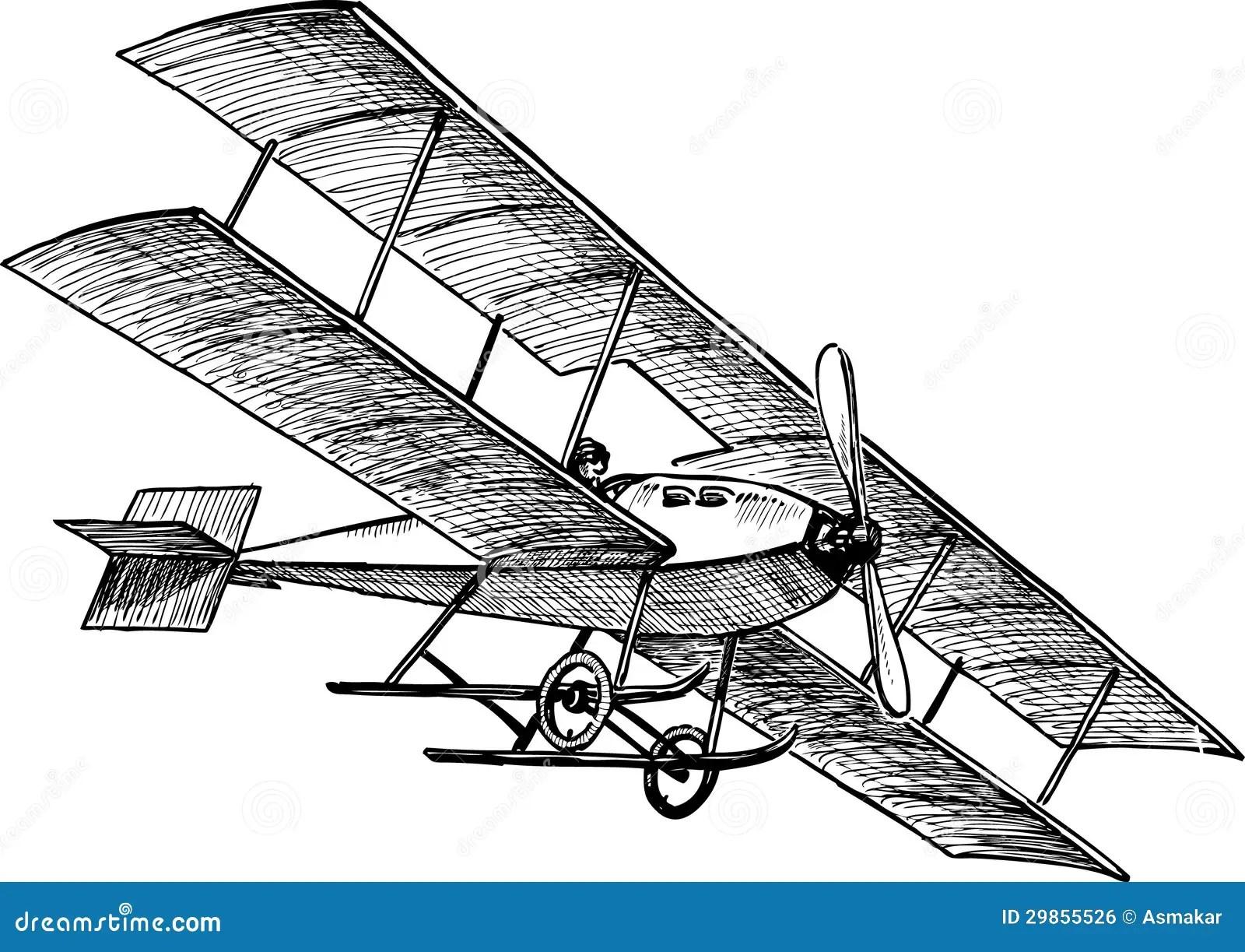 Aeroplano Antiguo Ilustracion Del Vector Ilustracion De