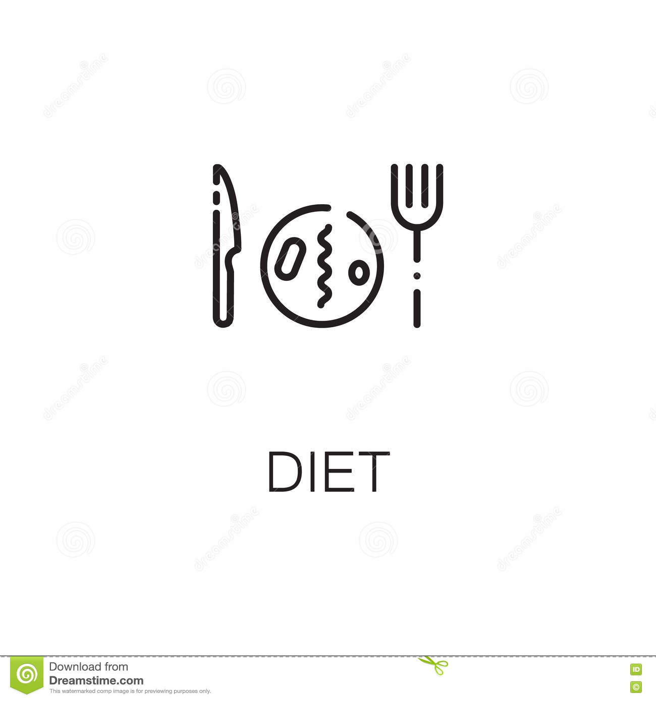 Diet Icon Or Logo For Web Design Stock Vector