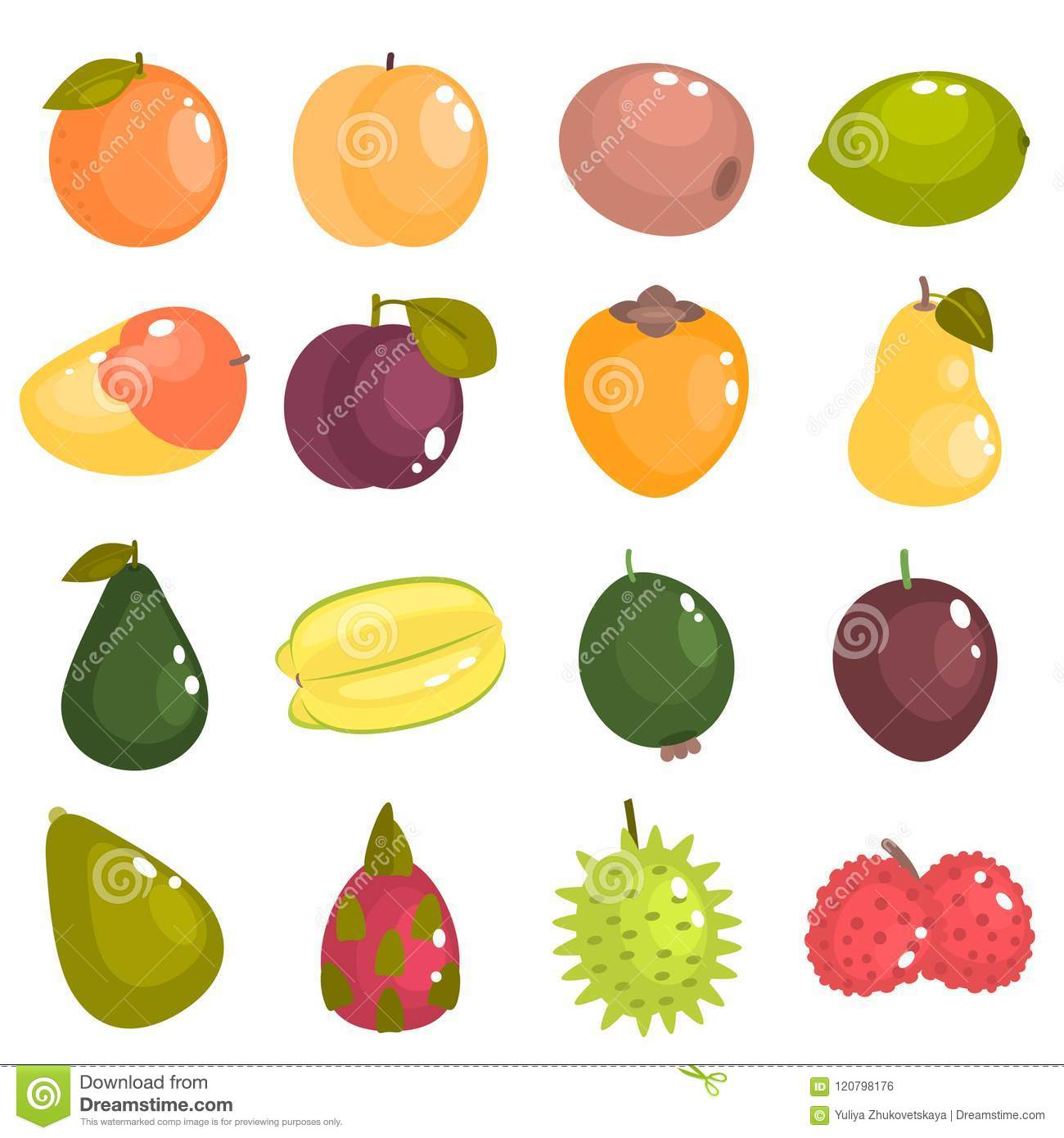 different fruits of the