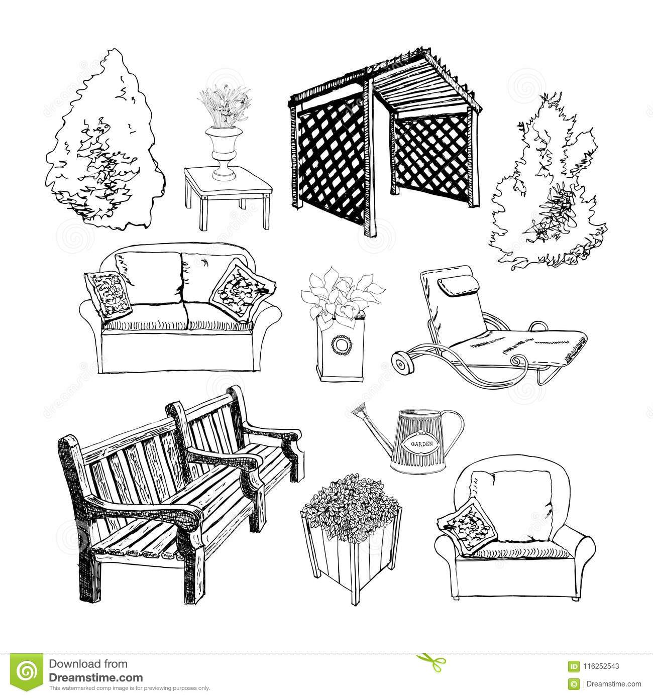 Composition With Furniture Stock Image