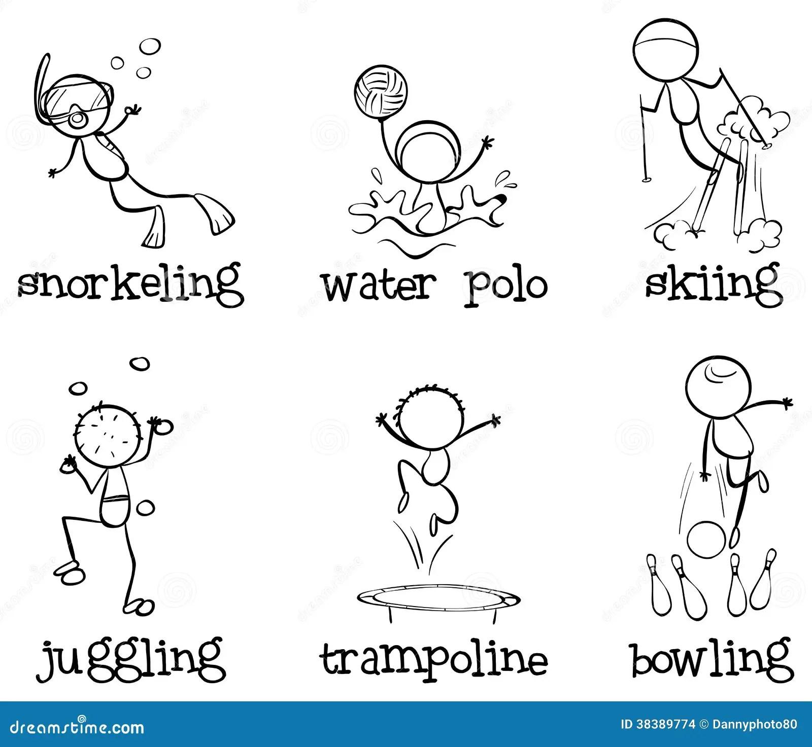 Different Indoor And Outdoor Activities Stock Images