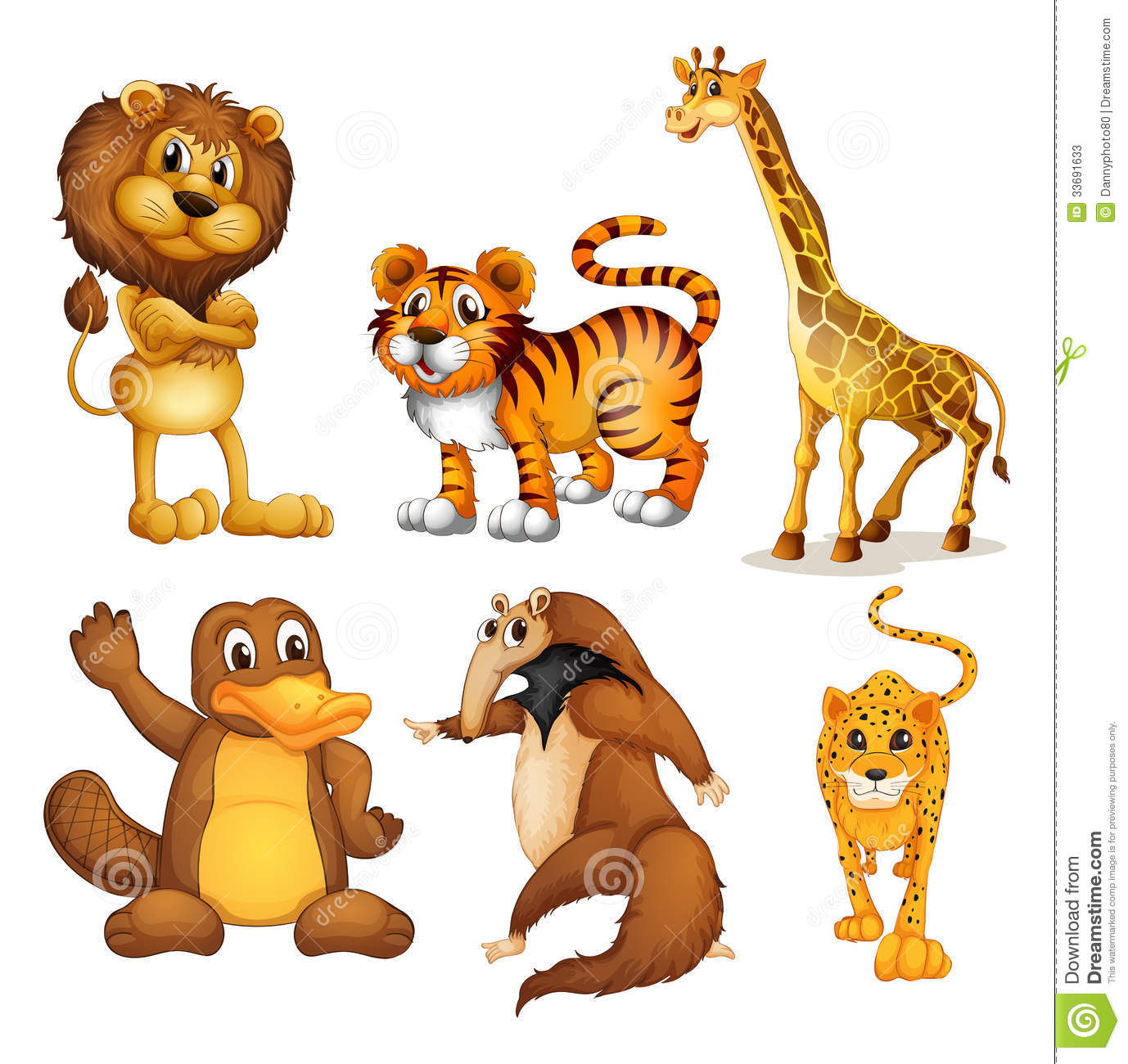 Different Kinds Of Land Animals Stock Photos