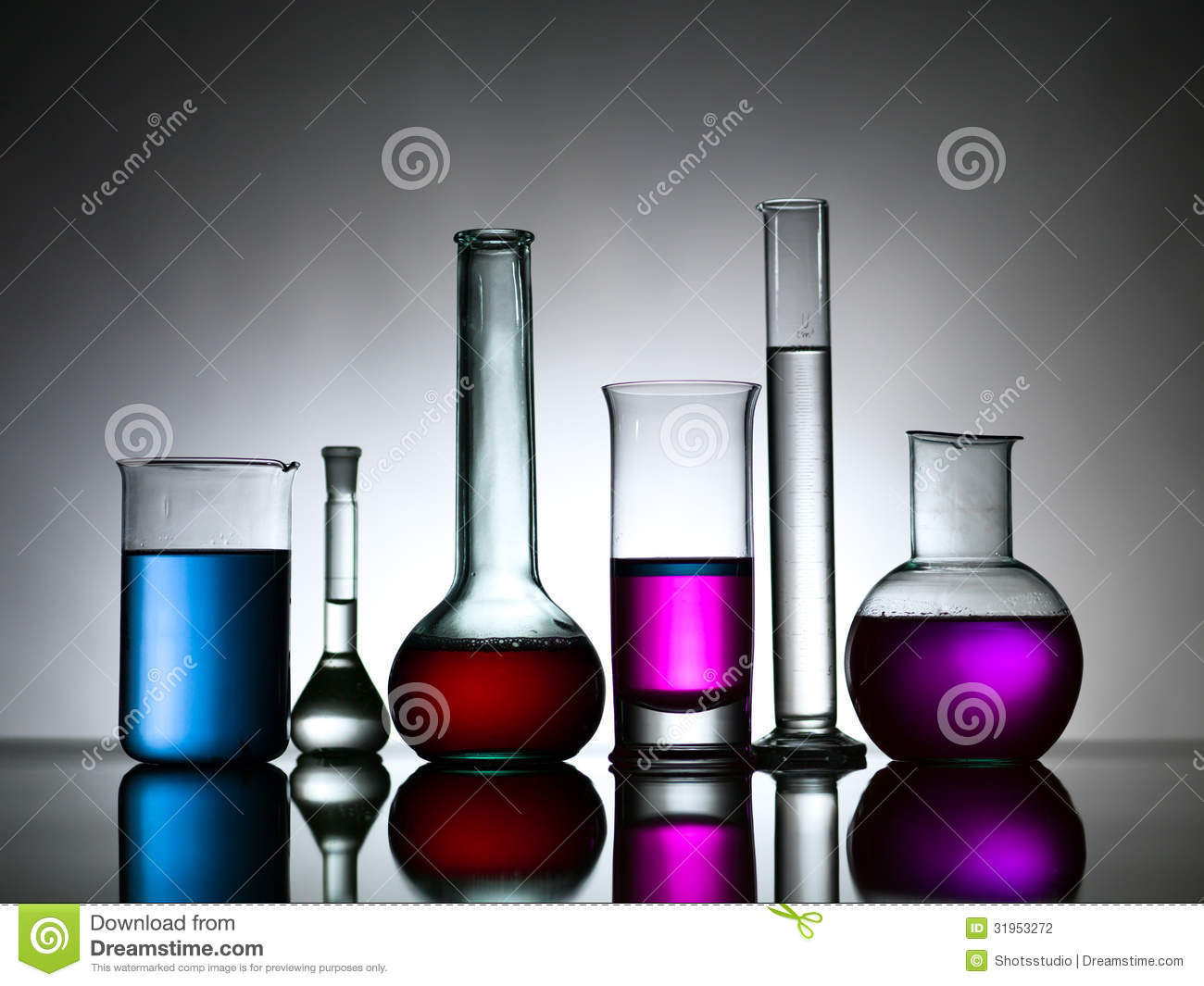 Different Lab Bottles Filled With Colored Substances Stock Photography  Image 31953272