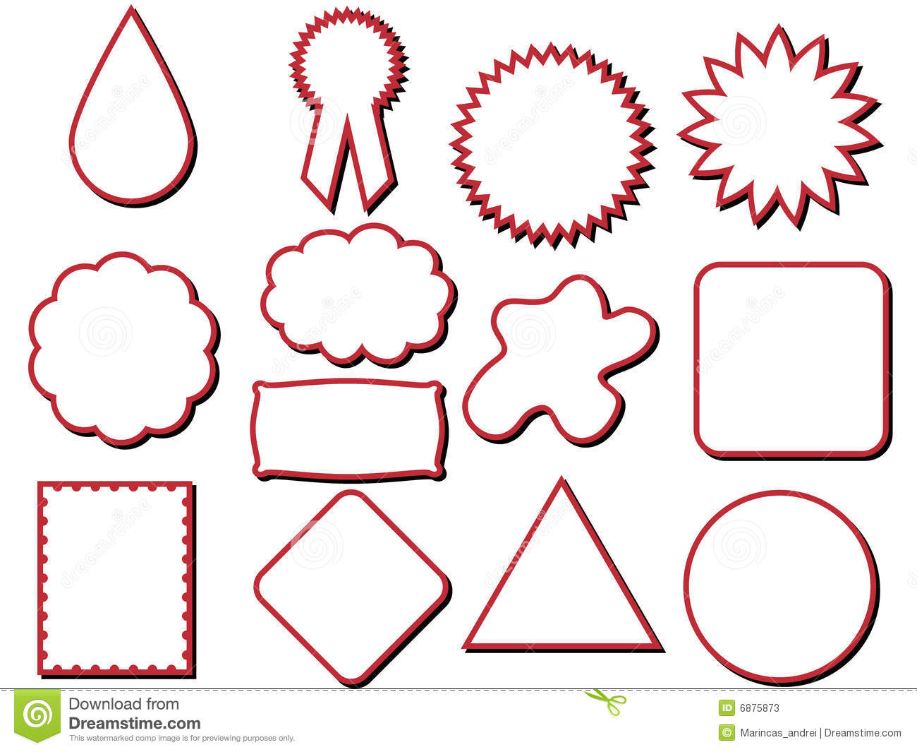 Different Shapes Label Stock Photos