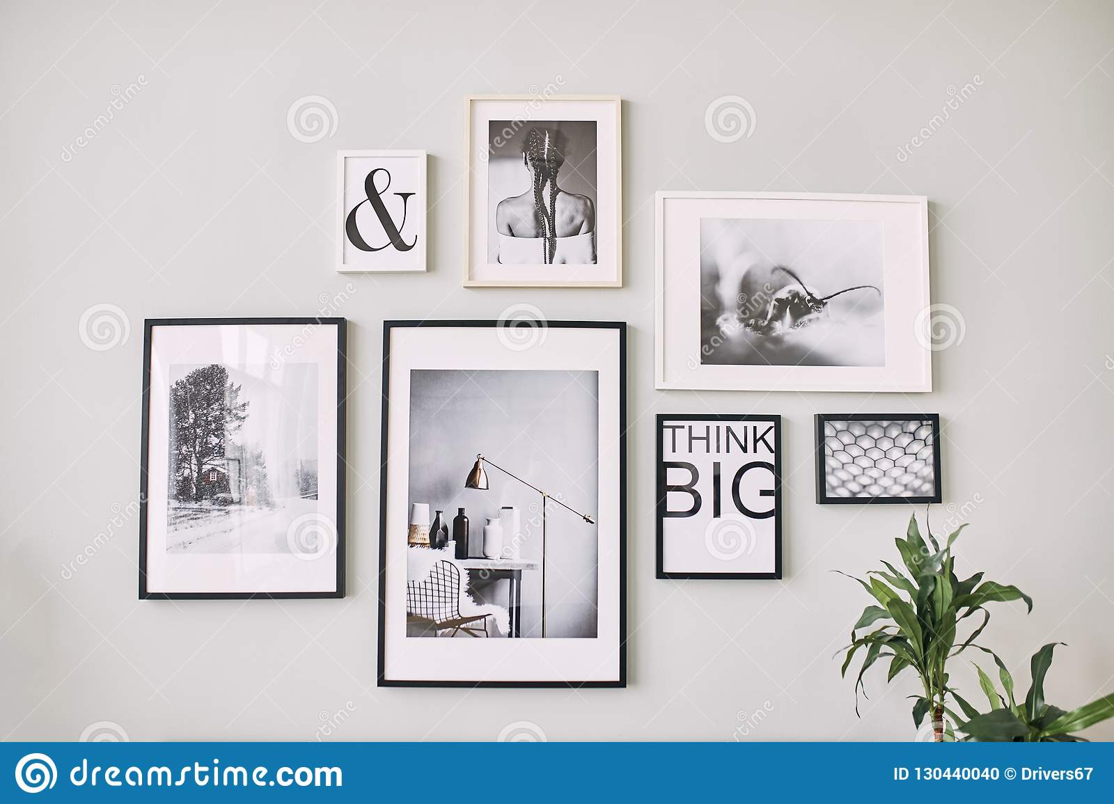 different size framed photos