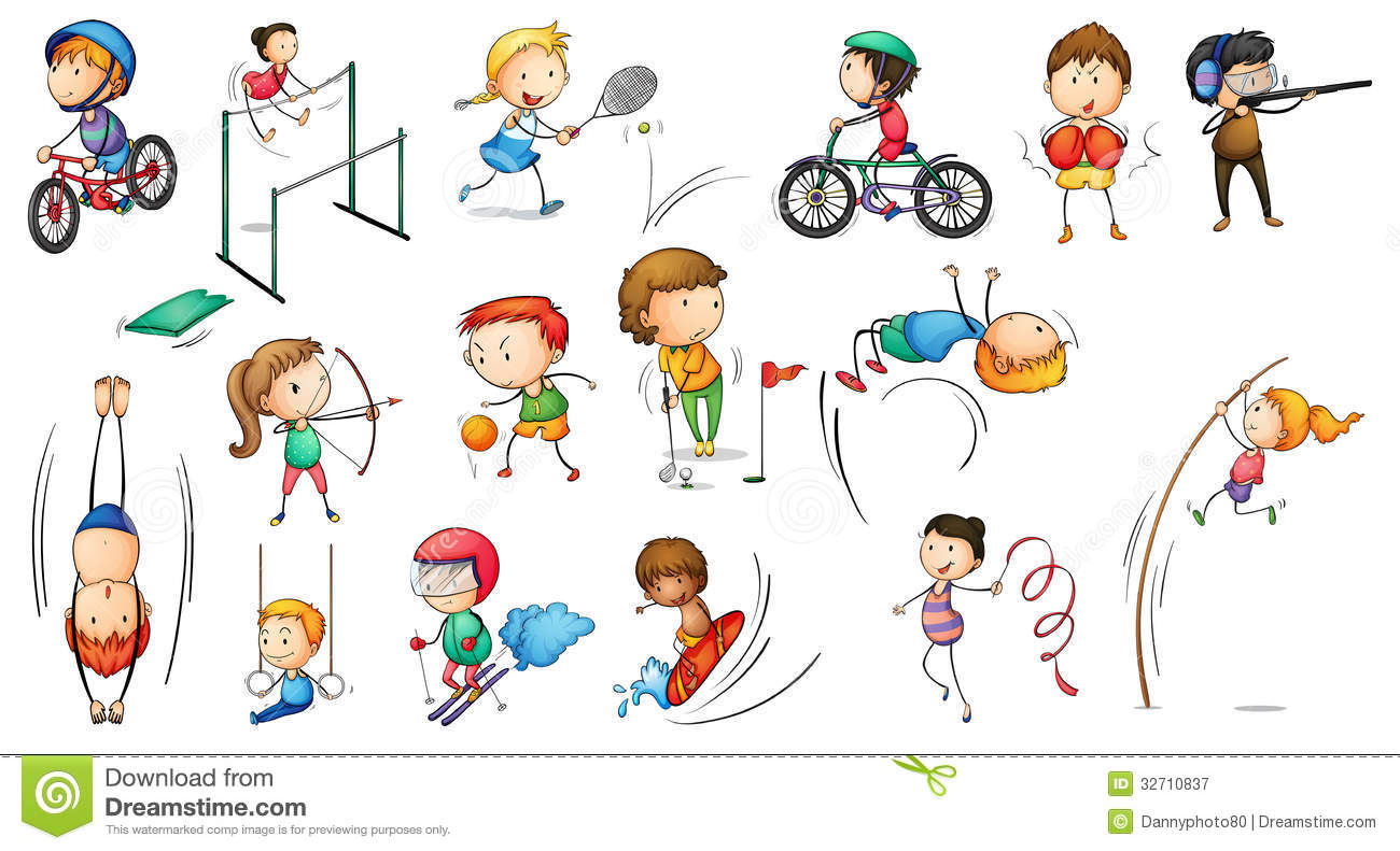 Different Sports Activities Stock Vector