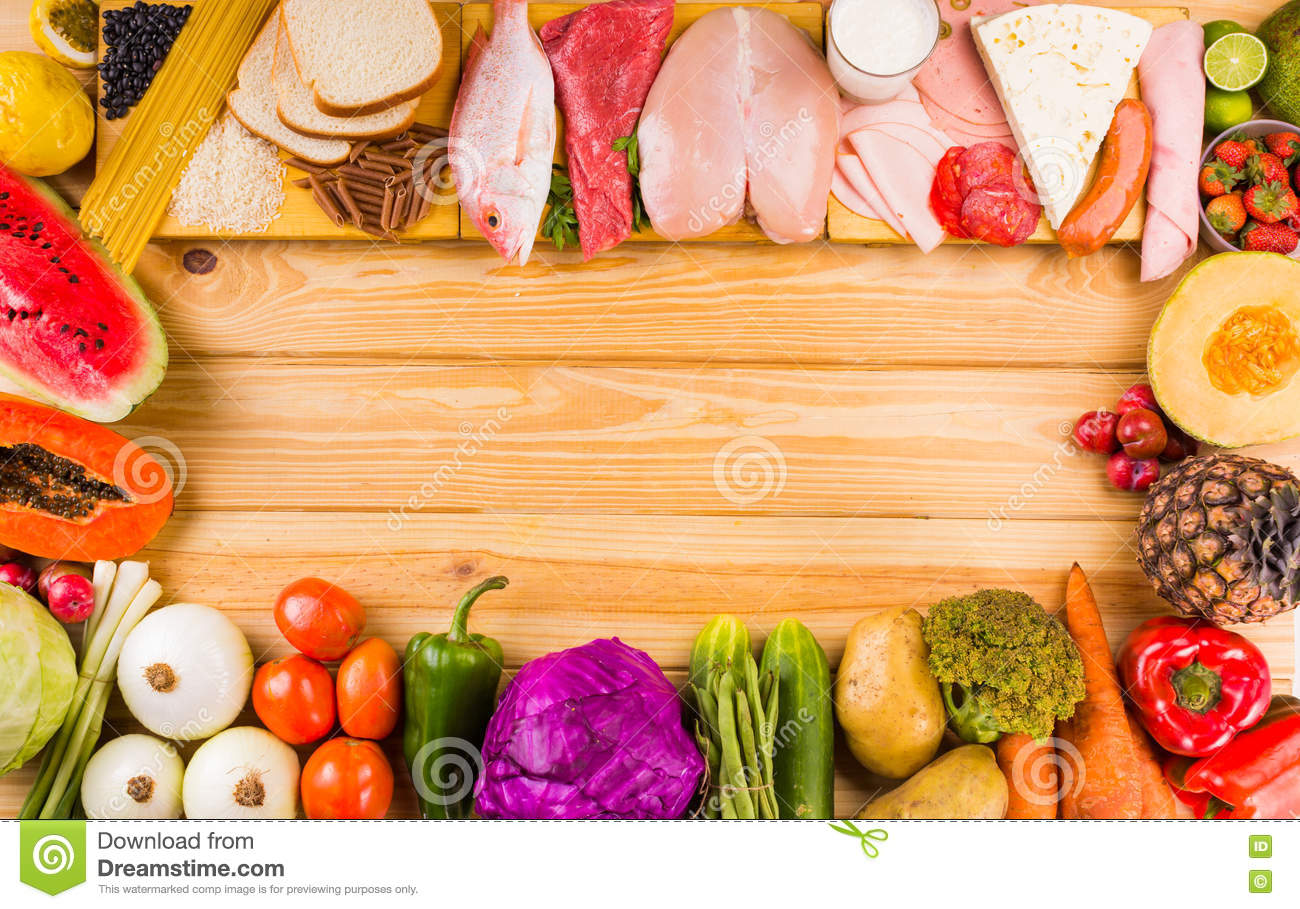 Different Types Of Foods Stock Photo Image Of Objects