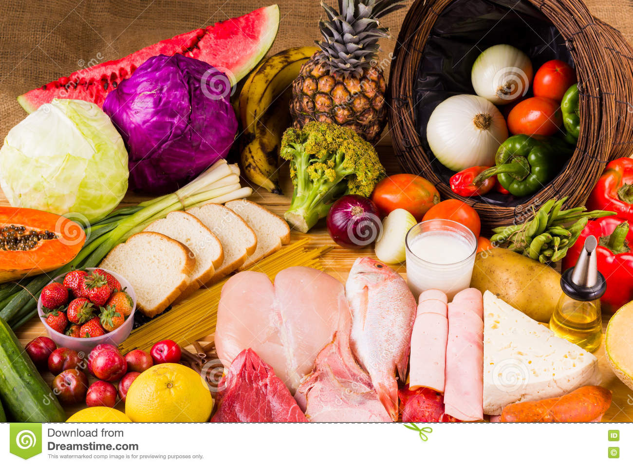 Different Types Of Foods Stock Photo Image Of Horizontal