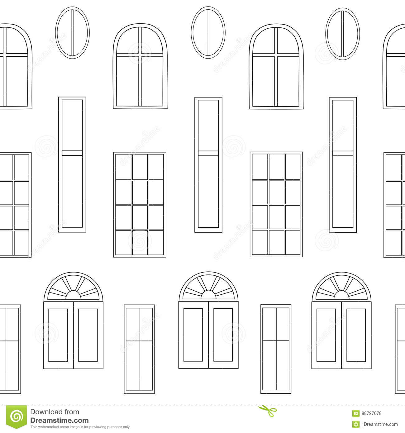 Vector Windows Collection Of Various Types Vector