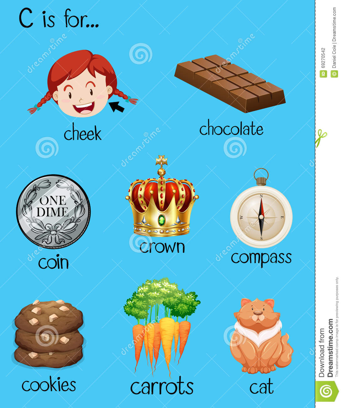 Different Words For Letter C Stock Vector