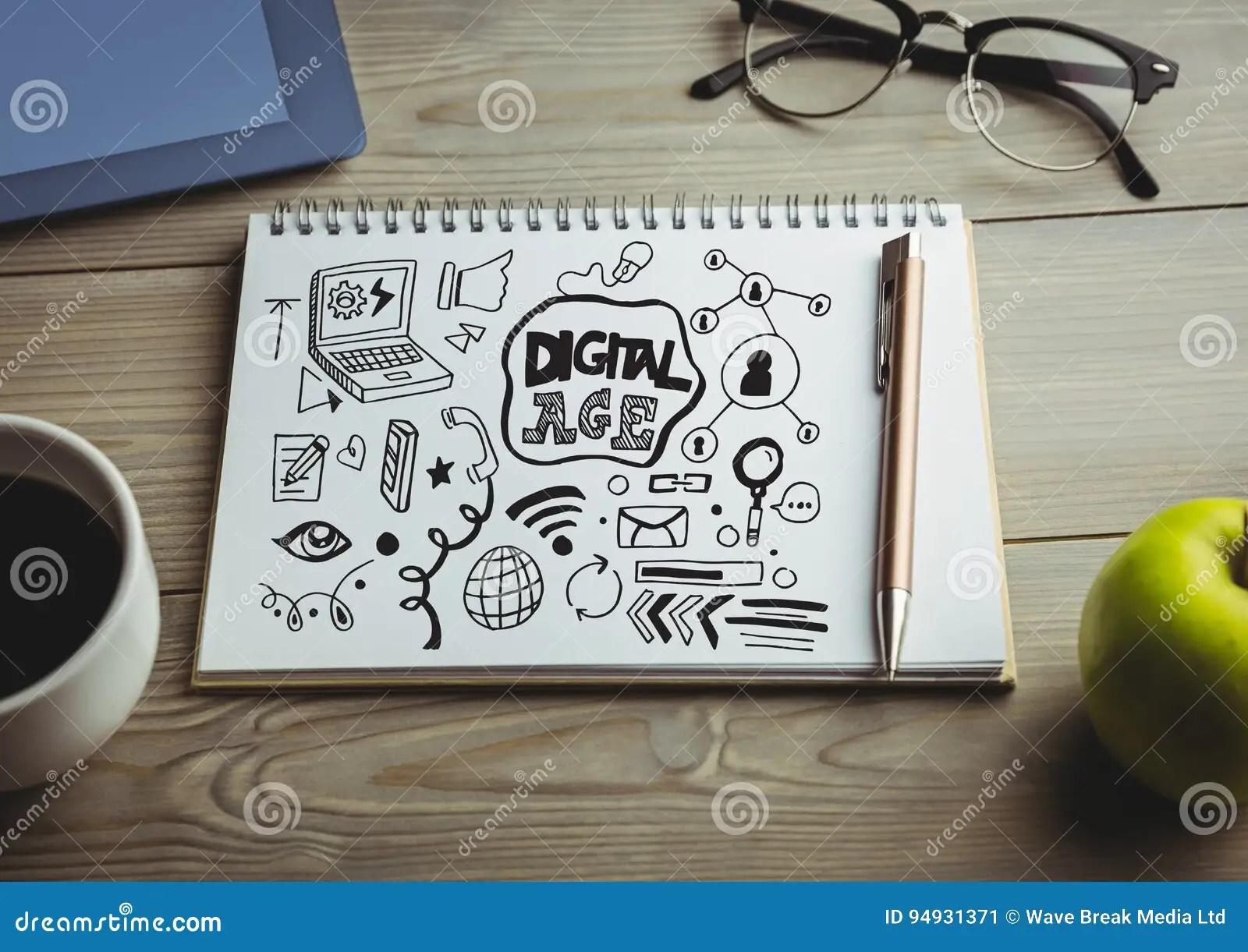 digital age doodle on