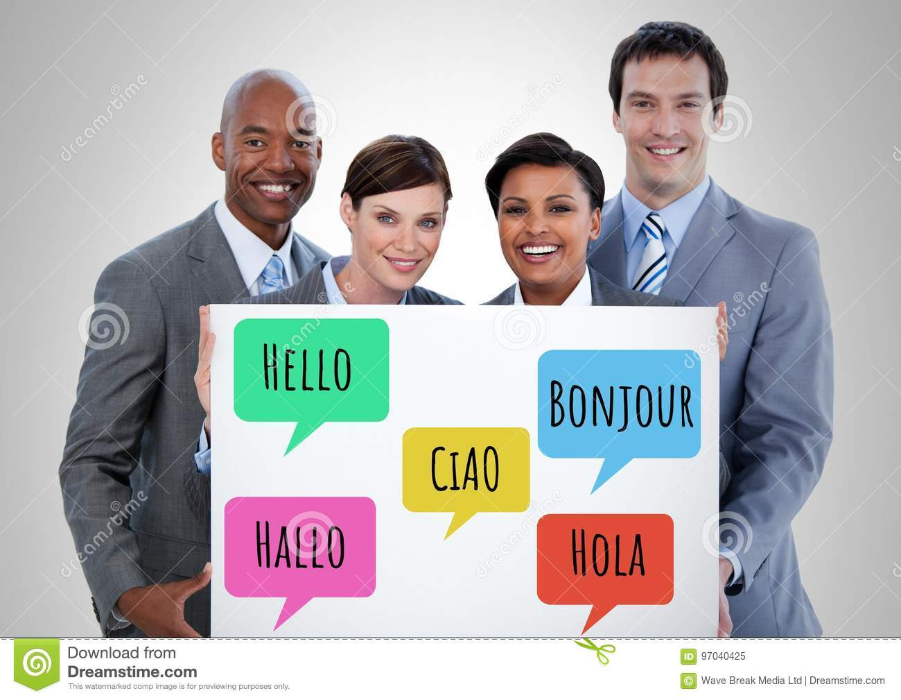 Hello In Different Languages Chat Bubbles Learning With