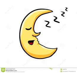 moon sleeping cartoon japanese illustration