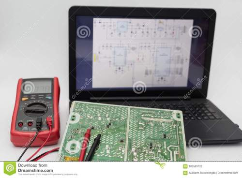 small resolution of circuit board with electrical diagrams by laptop
