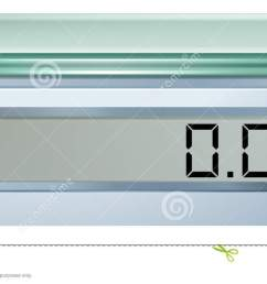 illustration of a digital weighing scale on a white background royalty [ 1300 x 649 Pixel ]