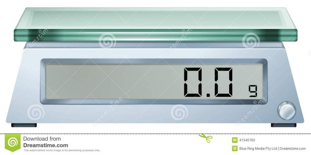 medium resolution of illustration of a digital weighing scale on a white background royalty