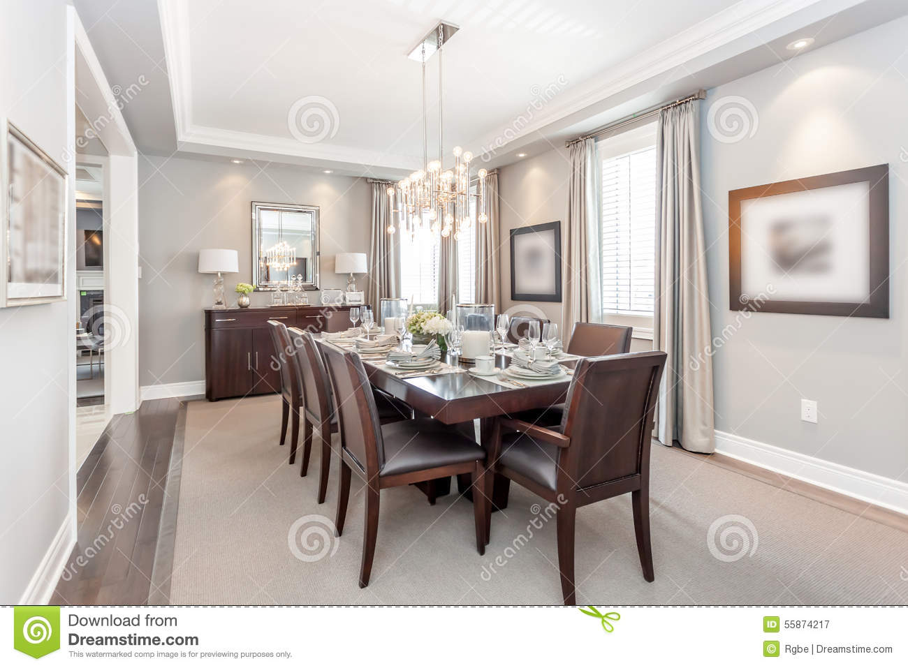 Dining Room Stock Photo  Image 55874217