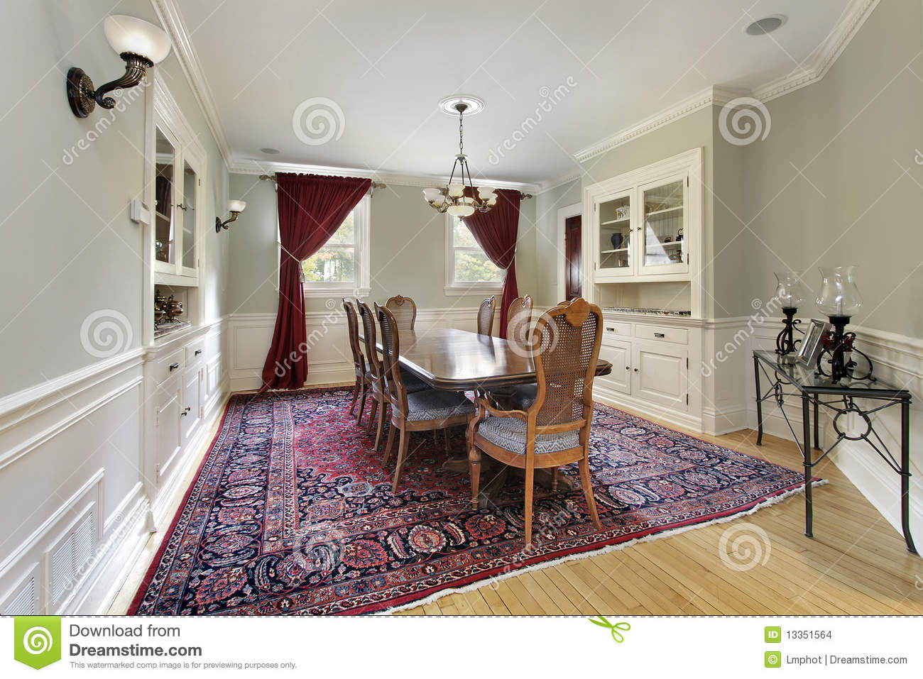 Dining Room With Builtins Stock Images Image 13351564