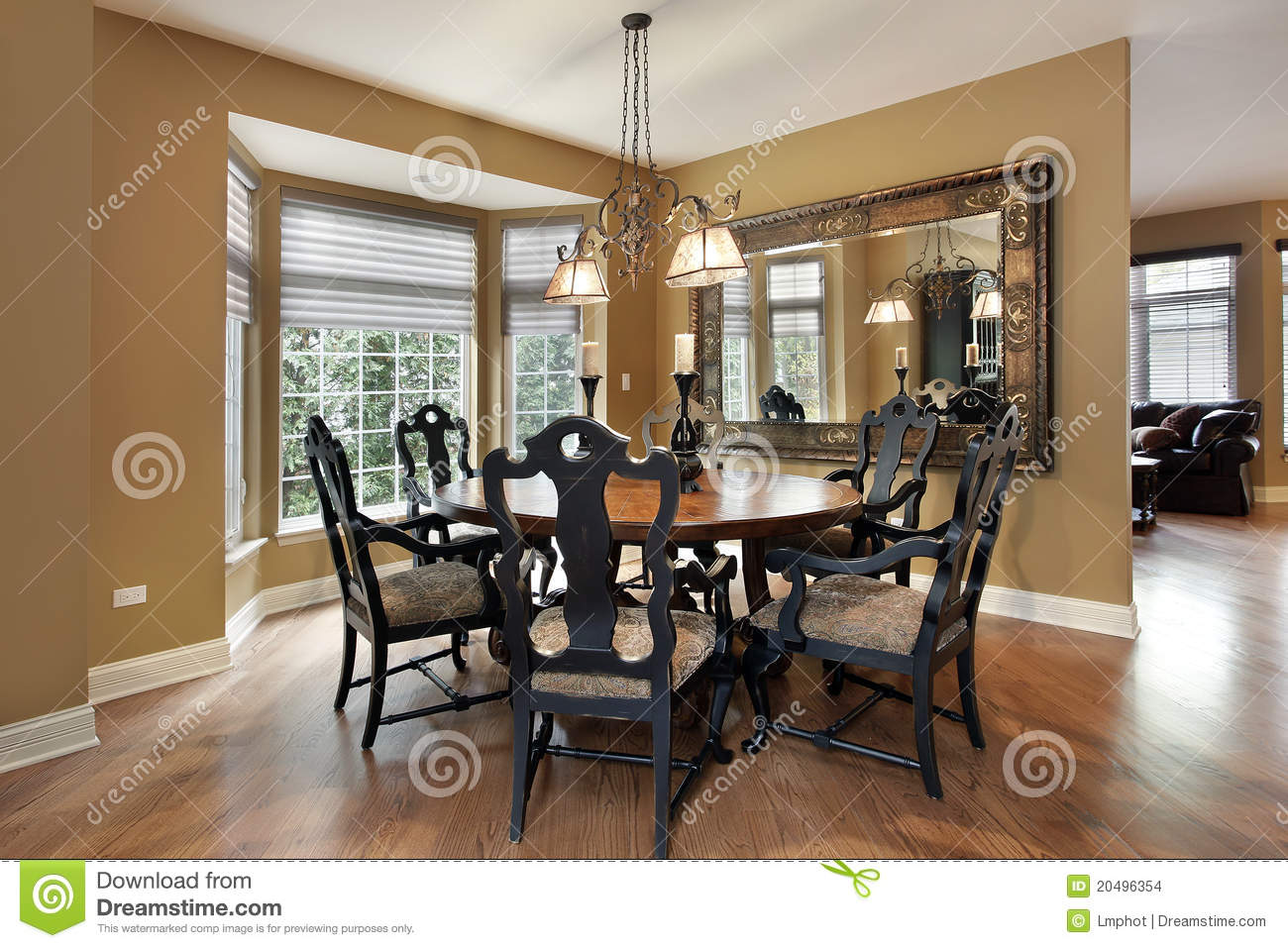 Dining Room With Gold Walls Stock Images  Image 20496354