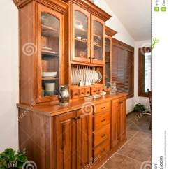 Kitchen Buffet Furniture Outdoor Kitchens On A Budget Dining Room Hutch Stock Image. Image Of Curio ...