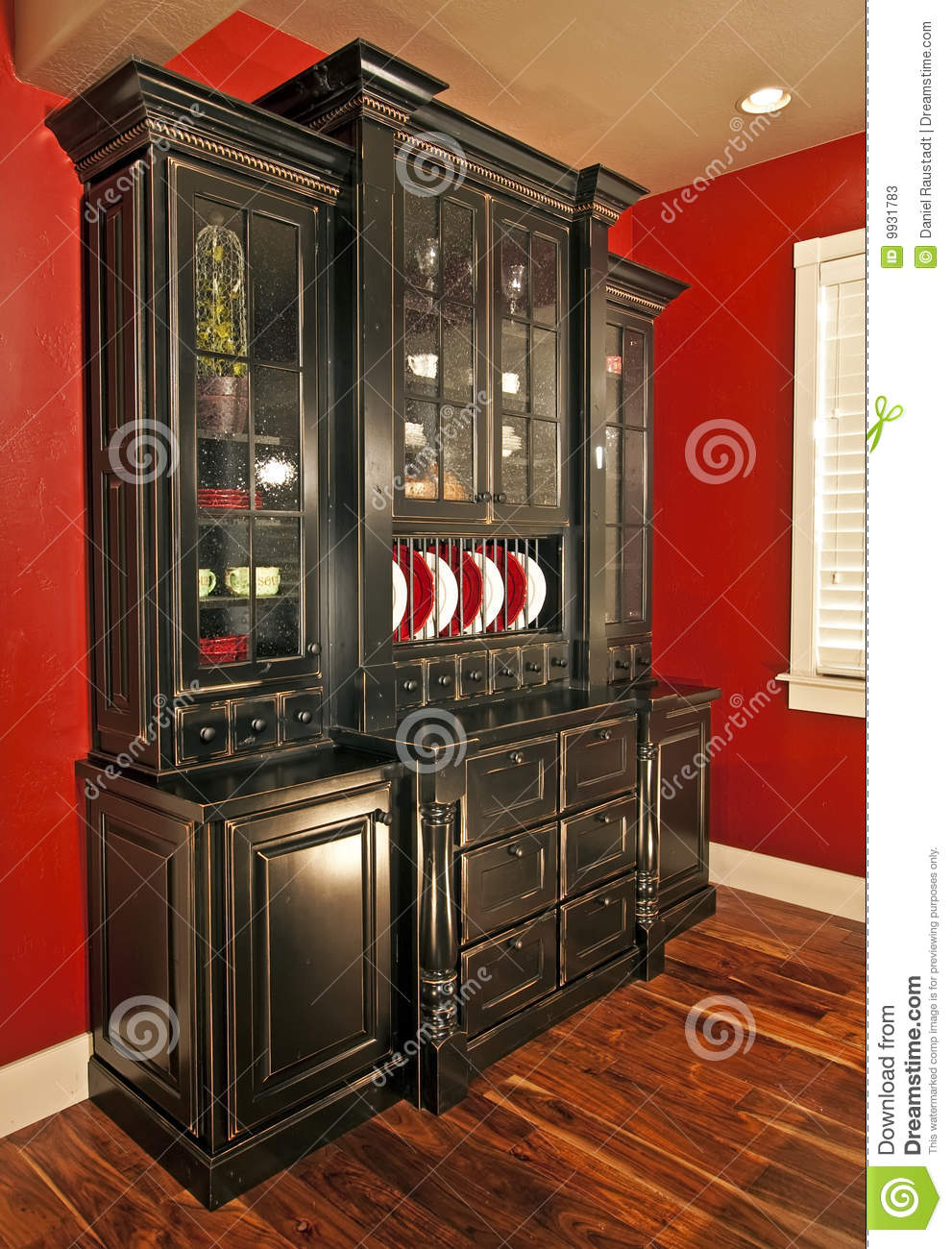 Dining Room Hutch Buffet Stock Image Image Of Building
