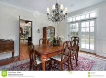 Dining Room In Suburban Home Royalty Free Stock